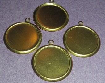 12 pcs. brass 18mm cabochon settings - f1859