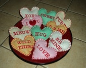 Organic Catnip Conversation Heart toys for Valentines Day (package of 3)