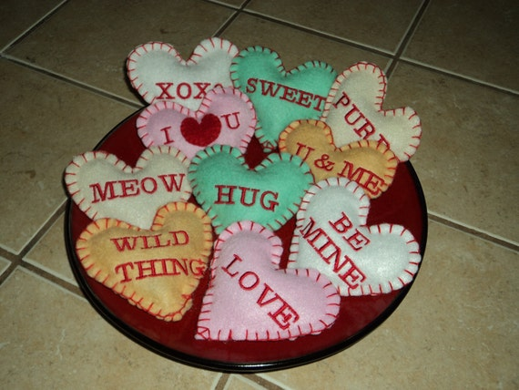 Catnip Toys For Valentine S Day : Organic catnip conversation heart toys for valentines day