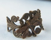 ADORABLE DRAGONFLY Brass FILIGREE RING