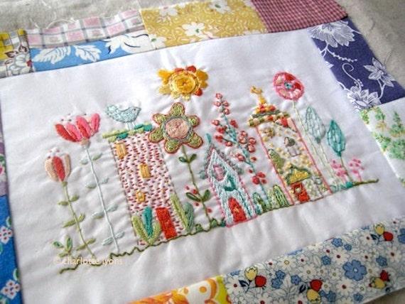 bloom stitching sampler