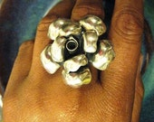 Sterling Silver Adjustable Blossoming Flower Ring
