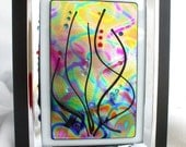 Mystical Sea Dichroic Art Glass in Frame
