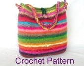 How to make Easy Crochet Bag Pattern Tutorial, Crochet Felted Bag Pattern Use Stash Yarn, instant download