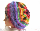 Easy Hat Knitting Patterns Tutorial pdf, Very Easy Slouch Hat Knit Pattern, Instant Download file