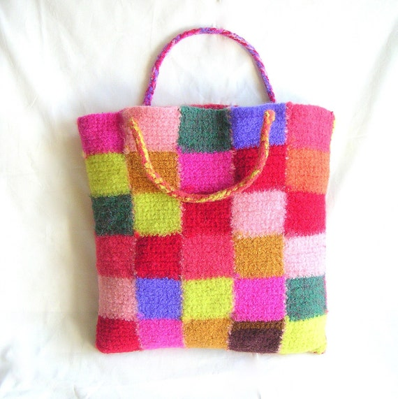 Bag Crochet Pattern Tutorial pdf, Square Motif Crochet Bag Pattern ...