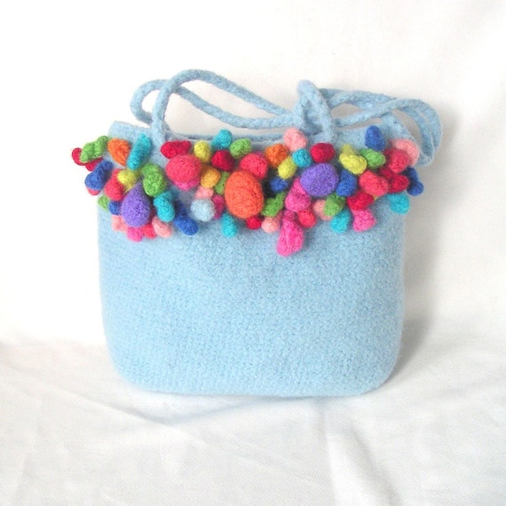 Crochet Felted Tote Bag Pattern : Items similar to Crochet Bag Pattern, Felted Bag Crochet ...