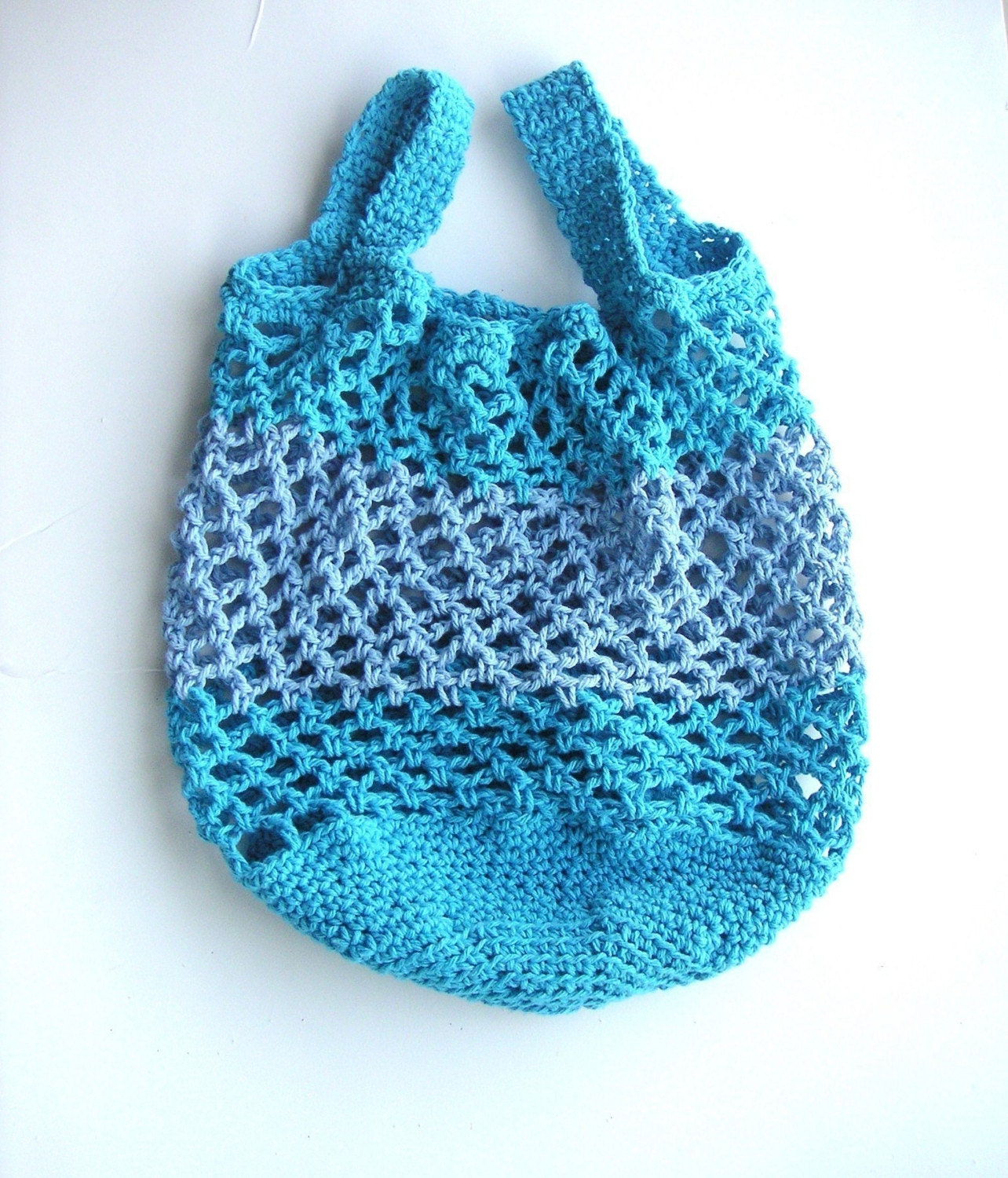 Easy Crochet Tote Bag Pattern : Cotton Market Bag Crochet Pattern Tutorial by GraceKnittingPattern