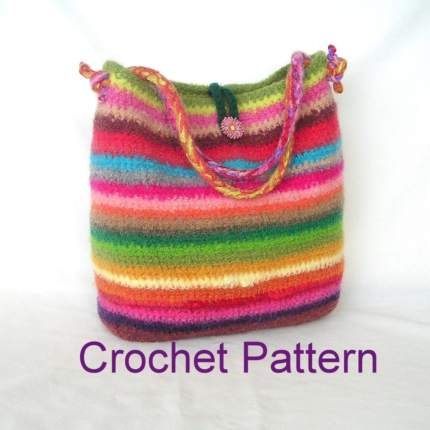 Crochet Simple Bag : How to make Easy Crochet Bag Pattern by GraceKnittingPattern