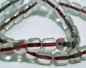 Rhubarb Pie- vintage color lined glass beads