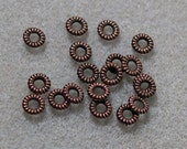 Antiqued Copper Spacer Rings- Spacer Bead