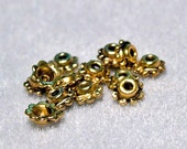 Bali Style Gold Daisy Beadcaps- jewelry findings