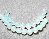 Moonlight- recycled sea glass beads
