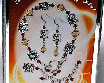 Bracelet and Earrings Kit- Swarovski crystal