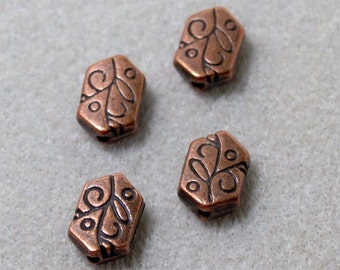 Copper Designer Spacer Beads