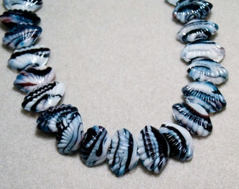Summers on the Shore- glass shell beads