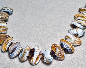 Summers on the Shore- Murano style shell beads