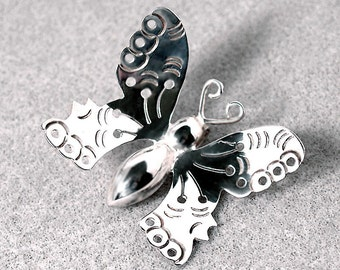 Butterfly, Don't Fly Away-Hill Tribes Silver pendant