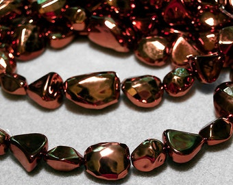 Lightweight Chunky Copper Nuggets- designer beads