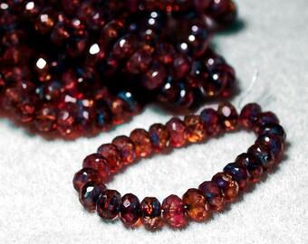 Rose Quartz Gemstone- thru cut Czech glass beads