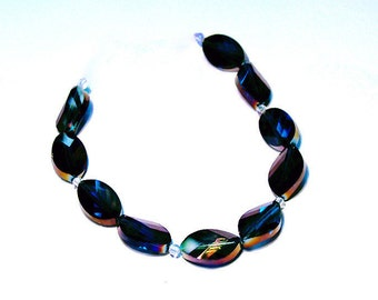 Color Shifting- faceted crystal beads