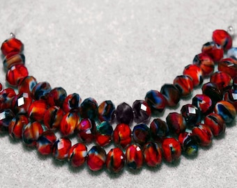 Cherries Jubilee- crystal beads
