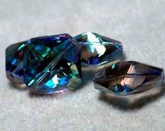 Blue Diamonds- crystal beads