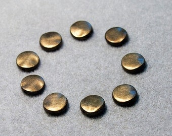 Bronze Coins- lead free spacer beads