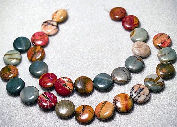 Red Creek Jasper III- gemstone beads
