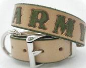 Army Leather Dog Collar