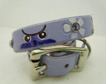 Lavender Owl Dog Collar