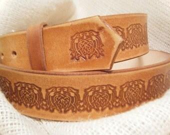 Irish Leather Belt - Mens - Leather Belt - Celtic