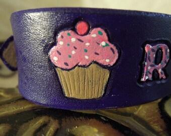 Tiny Dog Collar - Cupcake - Dog Collar - Purple