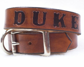 Dog Collars with Name - Classic - Dog Collar - Leather - Dog Collar with Name