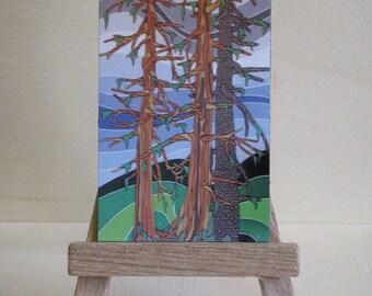 Gruchy's Tree-O (Lakelse Lake, BC) Original Artwork Magnet