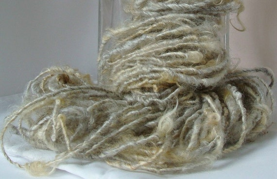 Handspun Art Yarn - PURE and NATURAL