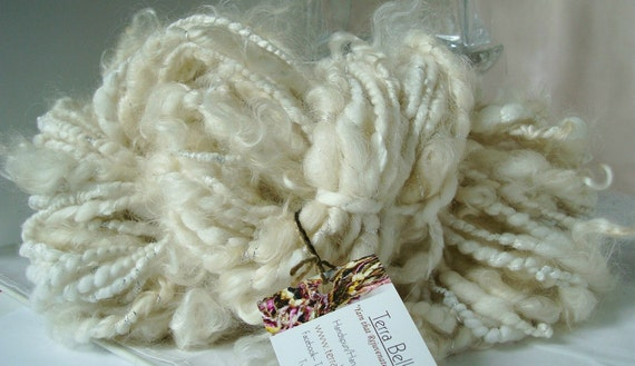Handspun Art Yarn - ANGEL'S WINGS