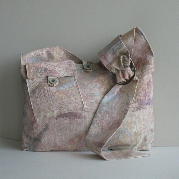 Hobo bag  , messenger bag , cross body bag , cotton hobo purse Vegan gift  Slouch side bag , Hobo crossbody , Fabric bag , Hobo shoulder bag