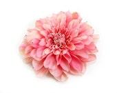 Elegant Pink Dahlia Flower Hair Accessory