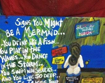 Custom Mermaid at the Bar for Kris