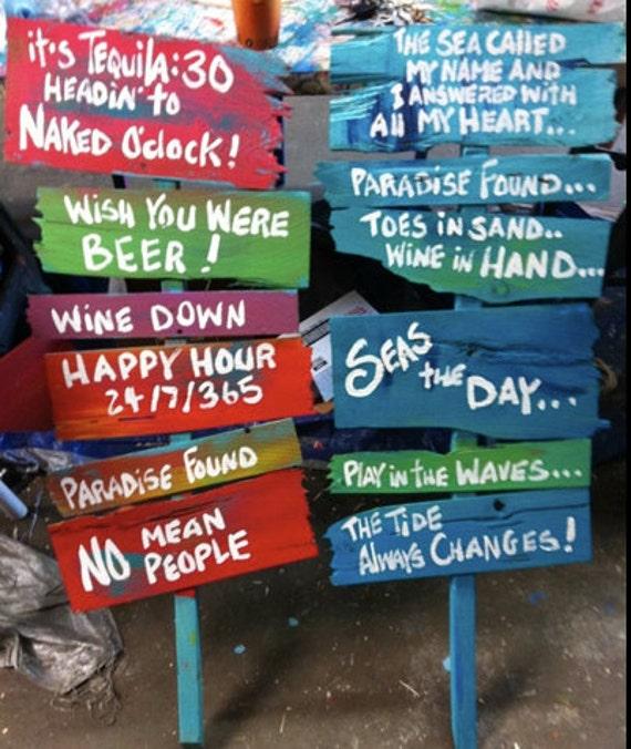 Rhondak Custom Stick Signs You Pick Six Sayings Color Schemes
