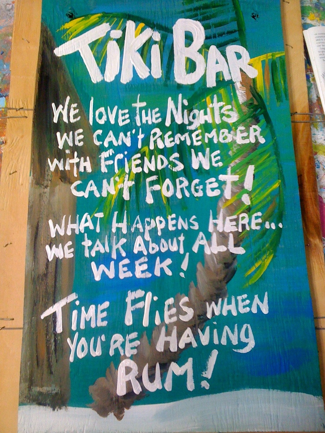 Funny Beach Quotes And Sayings: RhondaK Mutiple Funny Saying Tiki Bar Sign Large With Three