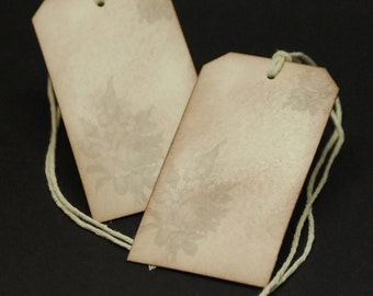 Faded Vintage Victorian Roses, gift tags, set of 8