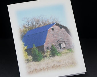 Old Red Barn 1, blank photo greeting cards, set of 6 note cards