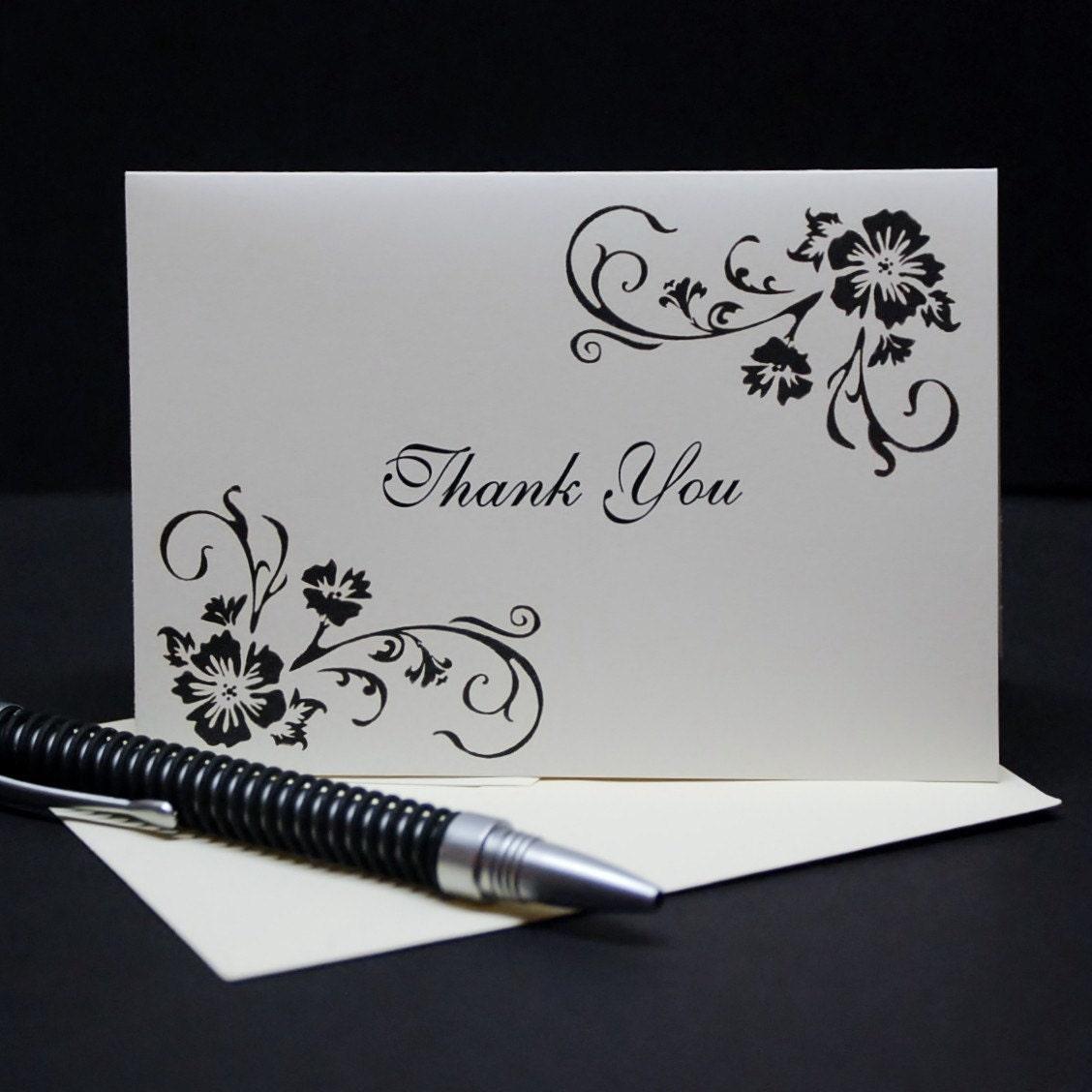 simple elegance wedding thank you card by carlincardcreations