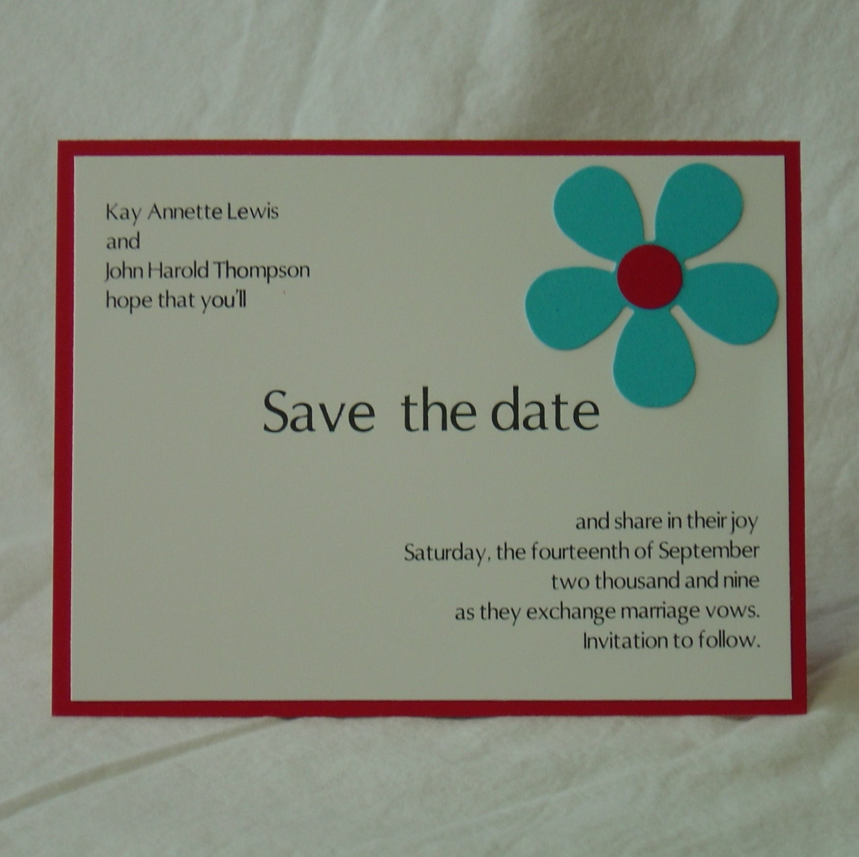 Save the date cards online