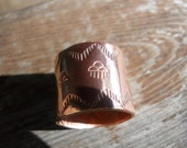 Reserved for Tami Native American Copper band Ring size 9.5 unisex design choctaw made