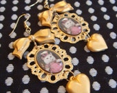 Pretty Kitty Frame Earrings