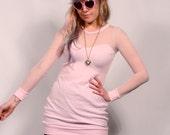 Pink and Polka Dot Sheer Party Dress MADE TO ORDER