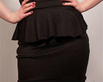 Black Ruffle Skirt MADE TO ORDER